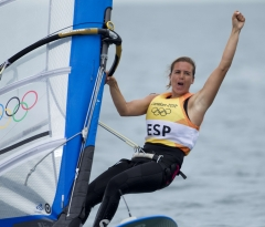 Marina Alabau wins the first gold medal for Spain in Weymouth Londres 2012